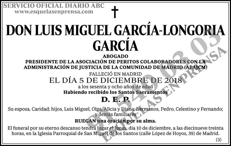 Luis Miguel García-Longoria García